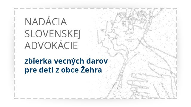 Nadácia Slovenskej Advokácie - Vecné dary určené deťom z obce Žehra